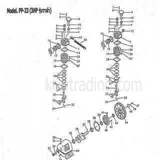 ปั๊มลม ปั๊มลมพูม่า ปั๊มลมPuma อะไหล่ปั๊มลมพูม่า ขายปั๊มลม - Inlet-Exhaust-Washer-แหวนรองวาล์ว