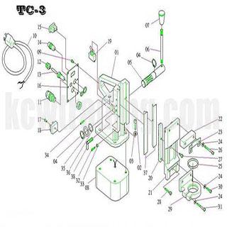 ปั๊มลม ปั๊มลมพูม่า ปั๊มลมPuma อะไหล่ปั๊มลมพูม่า ขายปั๊มลม - อะไหล่แท่นแม่เหล็ก-TC-3