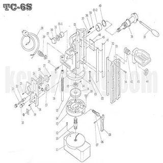 ปั๊มลม ปั๊มลมพูม่า ปั๊มลมPuma อะไหล่ปั๊มลมพูม่า ขายปั๊มลม - อะไหล่แท่นแม่เหล็ก-TC-6S