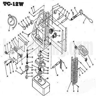 ปั๊มลม ปั๊มลมพูม่า ปั๊มลมPuma อะไหล่ปั๊มลมพูม่า ขายปั๊มลม - อะไหล่แท่นแม่เหล็ก-TC-12W
